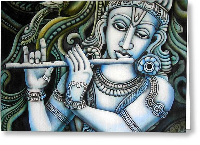 Gopala Greeting Cards - Venugopala Greeting Card by Vishwajyoti Mohrhoff