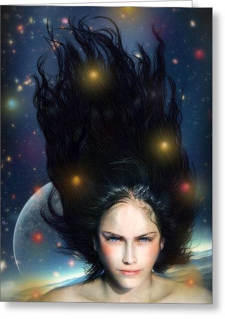 Floating Girl Greeting Cards - Venus Greeting Card by Alessandro Della Pietra