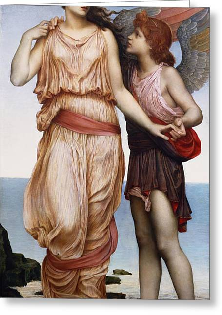 Williams Greeting Cards - Venus and Cupid Greeting Card by Evelyn De Morgan