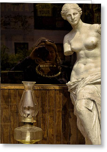Aphrodite Of Milos Greeting Cards - Venus and Me Greeting Card by Joanna Madloch