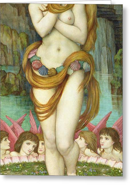 Neo Greeting Cards - Venus Greeting Card by John Roddam Spencer Stanhope