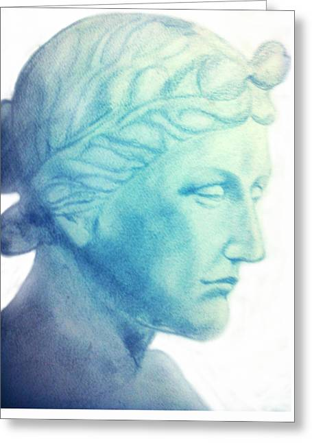 Greek Sculpture Greeting Cards - Venus Greeting Card by Karunita Kapoor