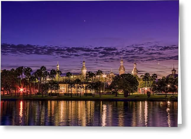City Lights Greeting Cards - Venus Over the Minarets Greeting Card by Marvin Spates