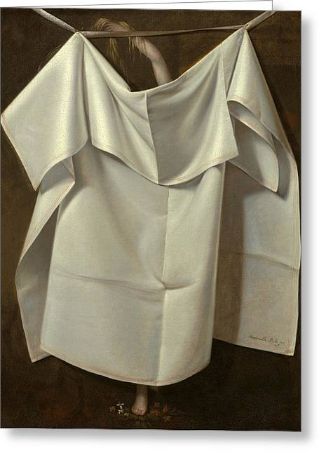 Peale Greeting Cards - Venus Rising From the Sea. A Deception Greeting Card by Raphaelle Peale
