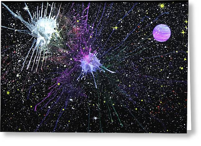 Recently Sold -  - Star Glass Art Greeting Cards - Venus Greeting Card by Wolfgang Finger