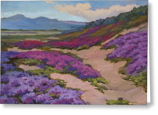 Verbena Greeting Cards - Verbena Harmony in Purple Greeting Card by Diane McClary