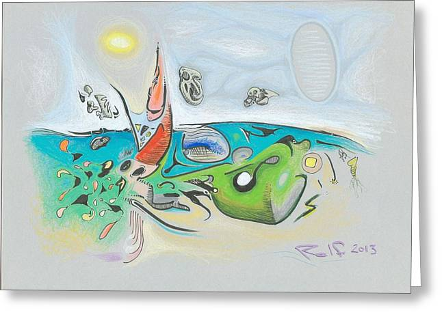 Important Mixed Media Greeting Cards - Verdant Chaos Greeting Card by Ralf Schulze