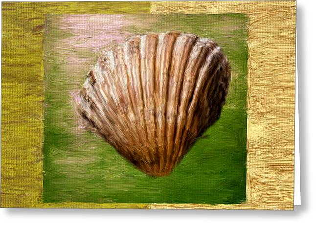 Seashell Digital Greeting Cards - Verde Beach Greeting Card by Lourry Legarde