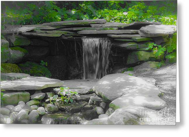 Colorkey Digital Greeting Cards - Verde Falls Greeting Card by Kathryn Strick