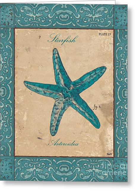 Starfish Greeting Cards - Verde Mare 1 Greeting Card by Debbie DeWitt