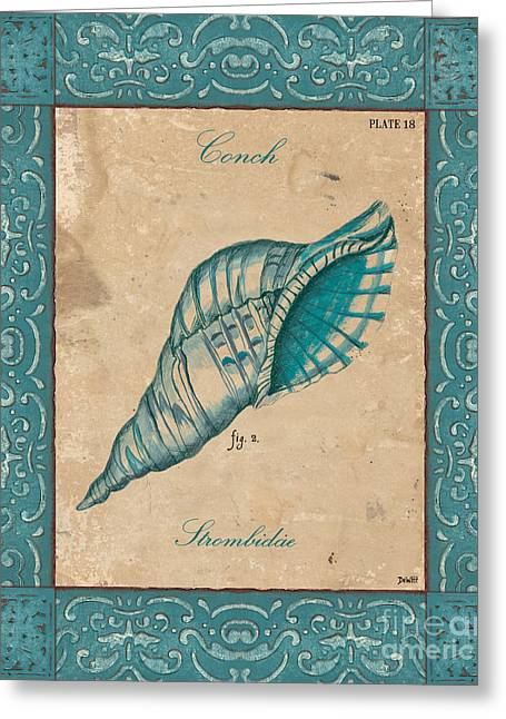 Conch Greeting Cards - Verde Mare 2 Greeting Card by Debbie DeWitt