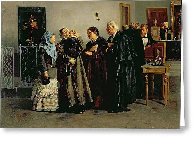 Advocate Greeting Cards - Verdict, Not Guilty, 1882 Oil On Canvas Greeting Card by Vladimir Egorovic Makovsky