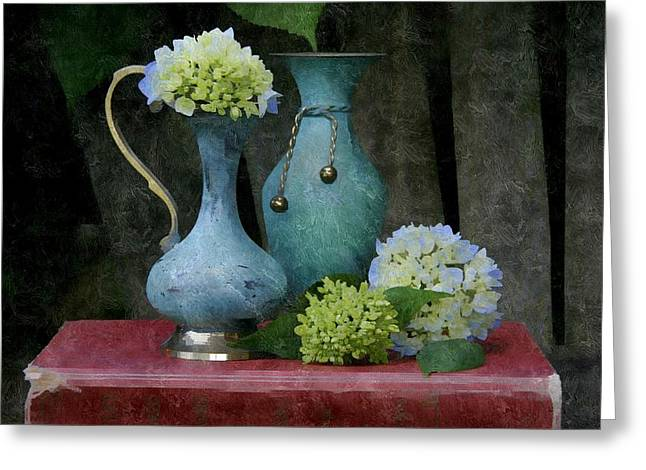 Turquois Greeting Cards - Verdigris Greeting Card by Karyn Robinson