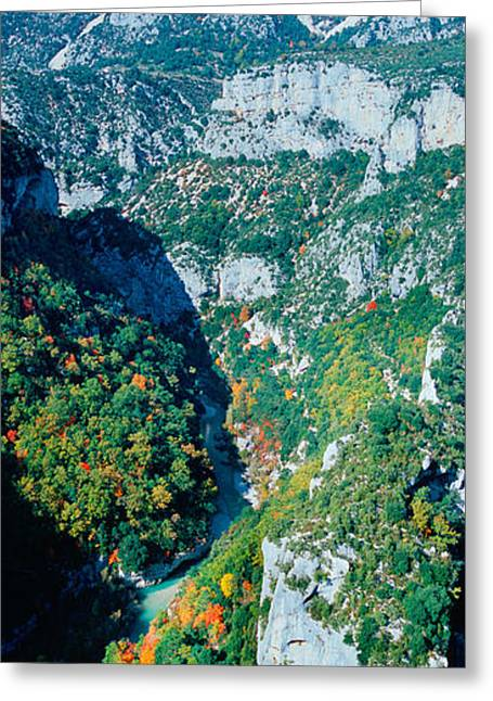 High Falls Gorge Greeting Cards - Verdon Gorge In Autumn Greeting Card by Panoramic Images
