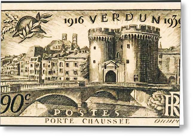 Verdun Connections Greeting Cards - Verdun 1916-1939 DOOR FLOOR STAMP Greeting Card by Lanjee Chee