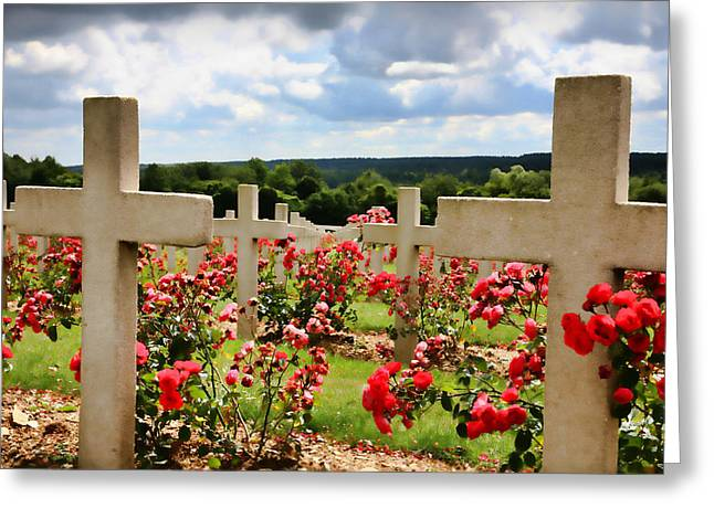 Wwi Greeting Cards - Verdun Cemetery  Greeting Card by Joanna Madloch
