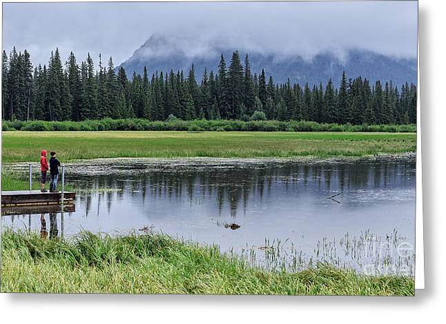 Banff Greeting Cards - Vermillion Lakes Banff National Park Canadian Rockies Greeting Card by Edward Fielding