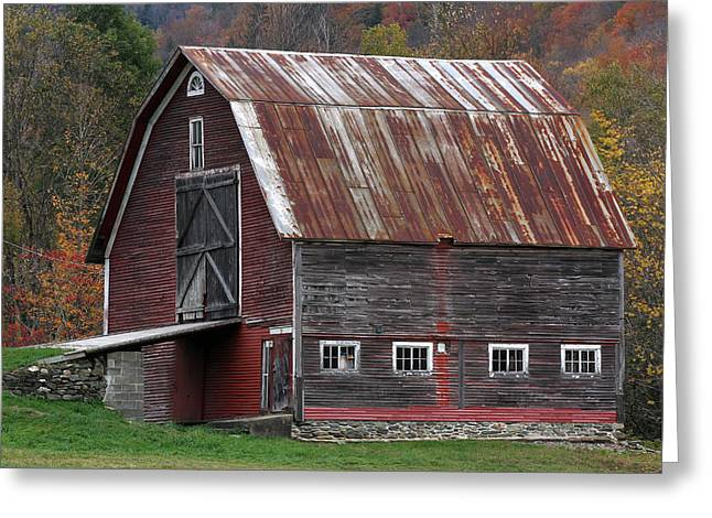 Vermont Barn Art Greeting Card by Juergen Roth