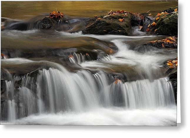 Quite Greeting Cards - Vermont Bartlett Waterfall Cascades Greeting Card by Juergen Roth