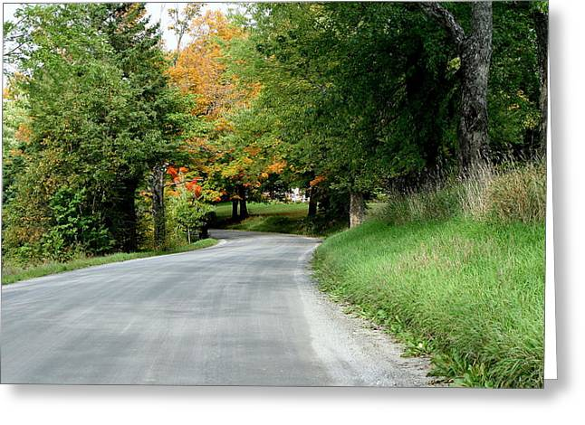 Landscape Photography Greeting Cards - Vermont Country Road  Greeting Card by Neal  Eslinger