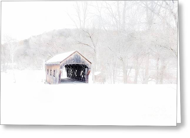 Marcia Lee Jones Greeting Cards - Vermont Covered Bridge Greeting Card by Marcia Lee Jones