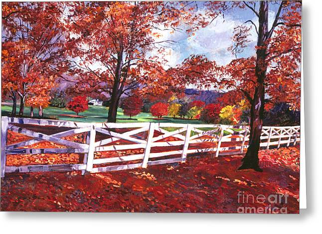 Wooden Fence Greeting Cards - Vermont Fence Greeting Card by David Lloyd Glover