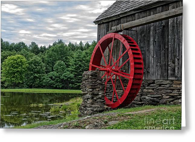 Grist Mill Greeting Cards - Vermont Grist Mill Greeting Card by Edward Fielding