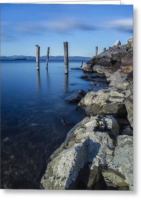 Vermont Photographs Greeting Cards - Vermont Lake Champlain sunrise Burlington Greeting Card by Andy Gimino