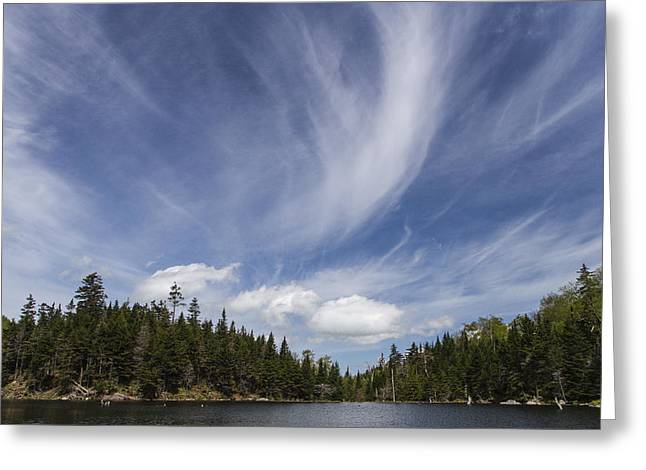 Vermont Landscape Appalachian Gap Pond Clouds Sky Greeting Card by Andy Gimino