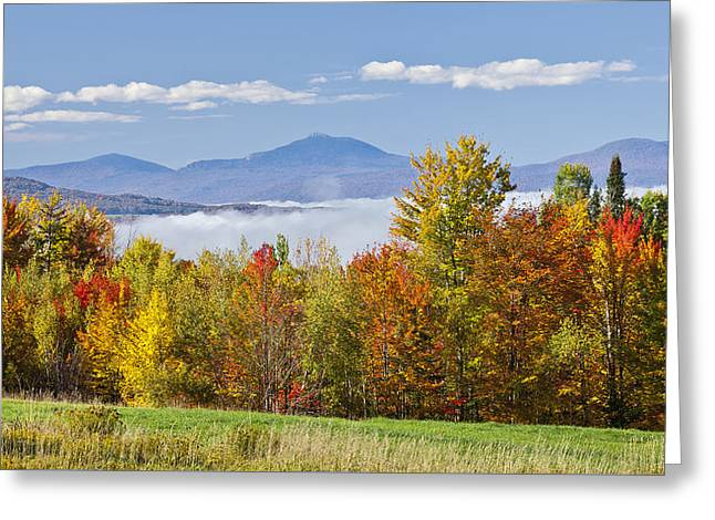 Vermont October Morning Greeting Card by Alan L Graham