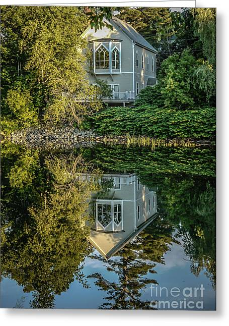 Quechee Greeting Cards - Vermont Reflections Greeting Card by Edward Fielding