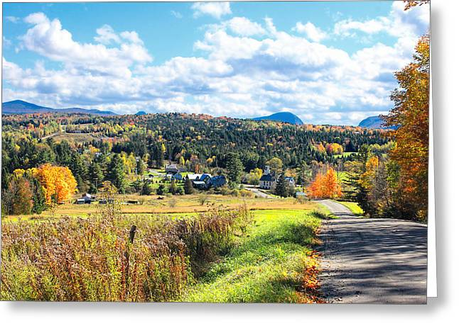 Charlotte Vermont Greeting Cards - Vermont Village Greeting Card by William Alexander