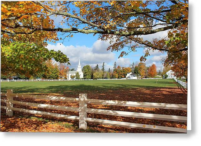Charlotte Vermont Greeting Cards - Vermont Vista Greeting Card by William Alexander
