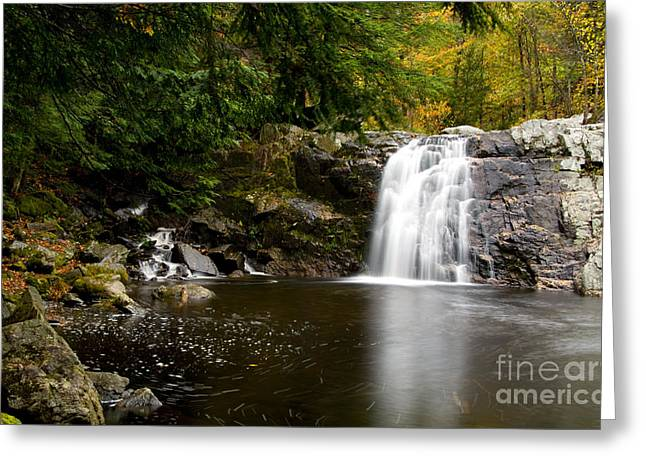 Buttermilk Falls Greeting Cards - Vermont Waterfall Greeting Card by Bill Bachmann
