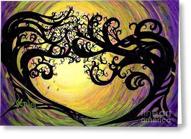 Dance Of Joy Greeting Cards - Vernal Equinox Greeting Card by Janine Riley