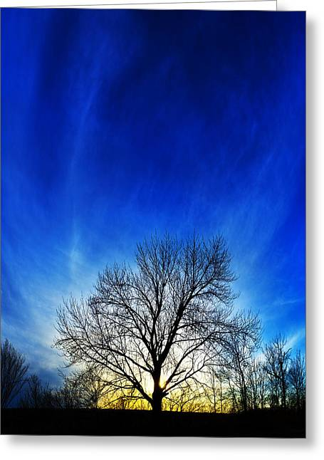 Downeast Greeting Cards - Vernal Sunset 1 Greeting Card by Bill Caldwell -        ABeautifulSky Photography