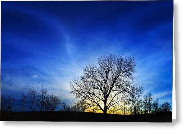 Maine Spring Greeting Cards - Vernal Sunset 2 Greeting Card by Bill Caldwell -        ABeautifulSky Photography