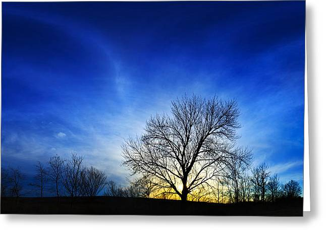 Downeast Greeting Cards - Vernal Sunset 2 Greeting Card by Bill Caldwell -        ABeautifulSky Photography