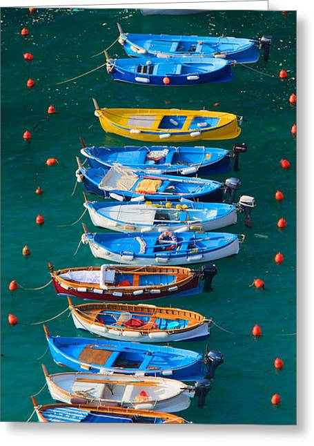 Tourists Greeting Cards - Vernazza Armada Greeting Card by Inge Johnsson