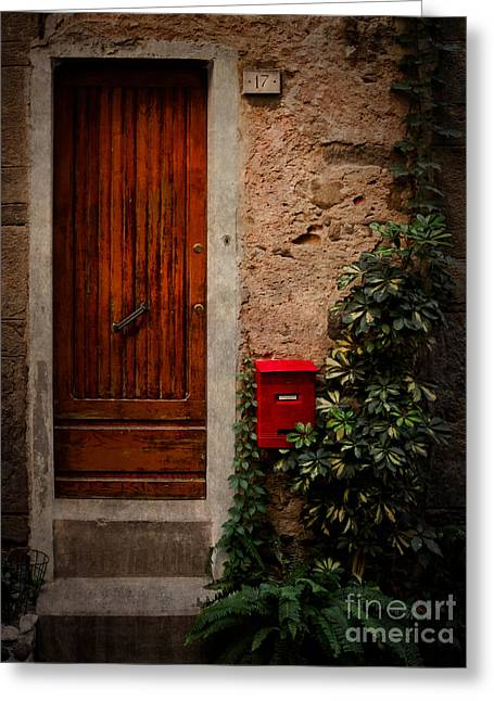 Old Door Greeting Cards - Vernazza Hideaway Greeting Card by Doug Sturgess