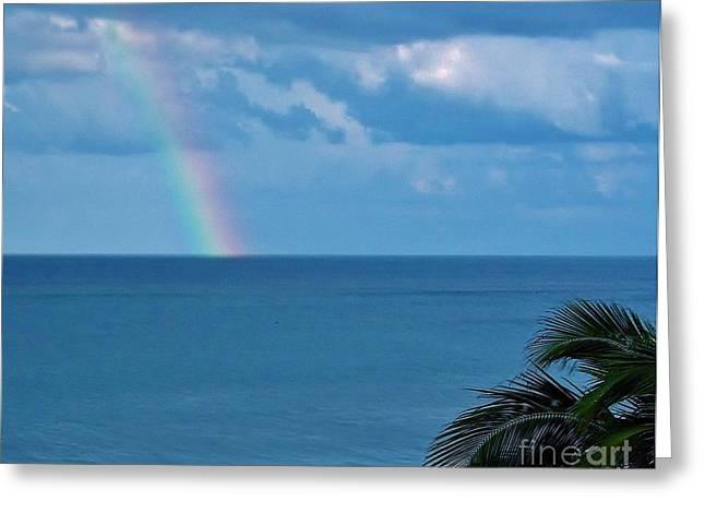 Best Ocean Photography Greeting Cards - Florida - Beach - Rainbow Greeting Card by D Hackett
