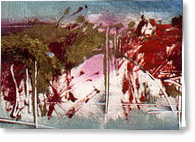 Abstract Expressionist Greeting Cards - Verona Fantasy Greeting Card by Jeannette Debonne