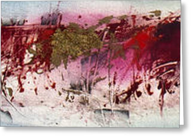 Abstract Expressionist Greeting Cards - Verona Greeting Card by Jeannette Debonne