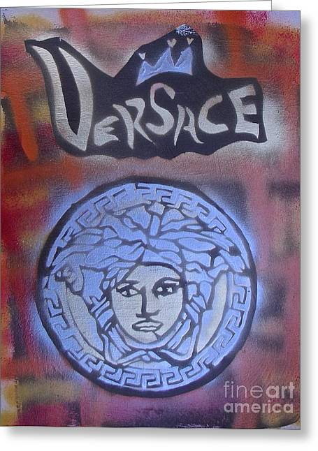 Versace Greeting Cards - Versace Street Art Greeting Card by Tony B Conscious