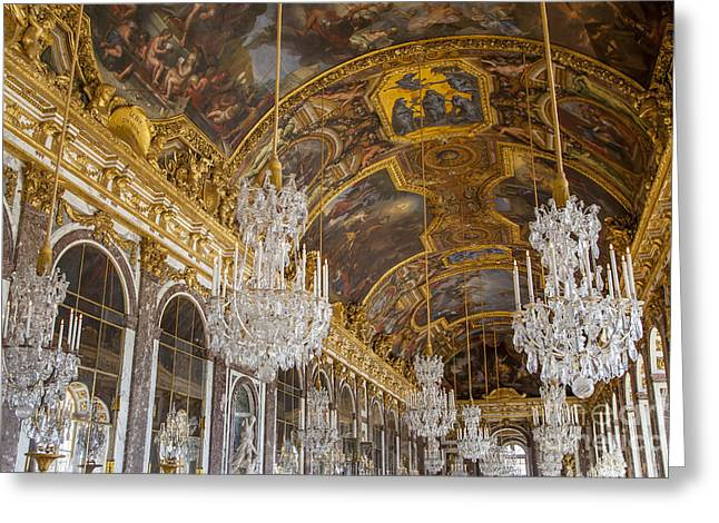 Xvi Greeting Cards - Versailles Ceiling Greeting Card by Brian Jannsen