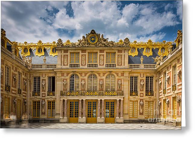 Versailles Courtyard Greeting Card by Inge Johnsson