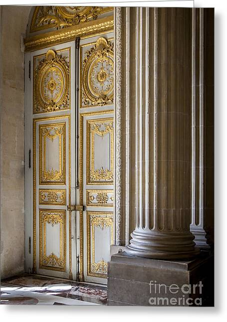 Xvi Greeting Cards - Versailles Door Greeting Card by Brian Jannsen