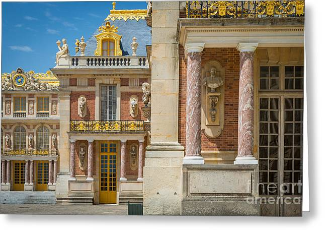 Opulence Greeting Cards - Versailles Splendor Greeting Card by Inge Johnsson