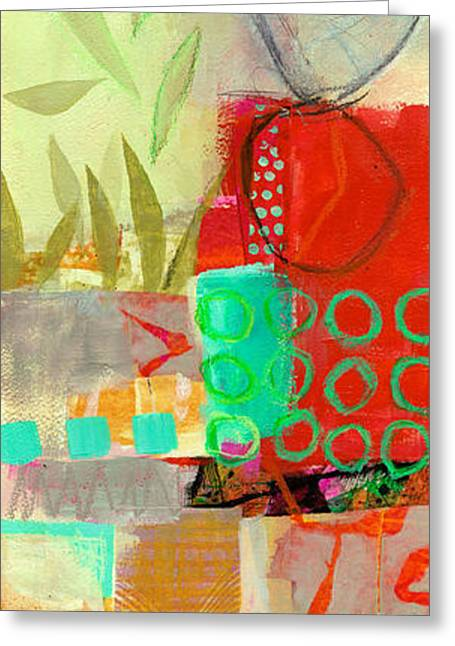 Paper Paintings Greeting Cards - Vertical 5 Greeting Card by Jane Davies