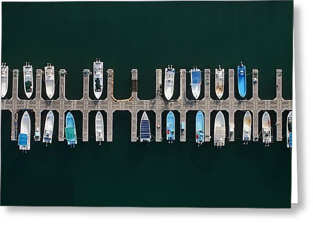 Vertical Alignment Greeting Card by Shoayb Hesham Khattab